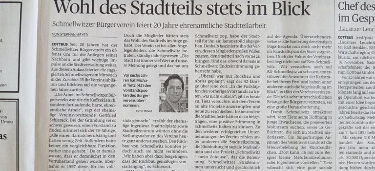 Lausitzer Rundschau: Wohl des Stadtteils stets im Blick