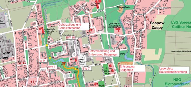 Ab 18.02. Weiterführung der Arbeiten am Grabensystem Schmellwitz